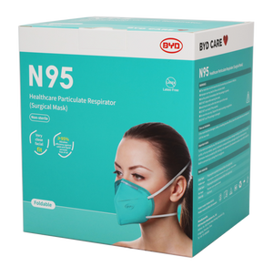 BYD N95 Particulate Respirator/mask - NIOSH APPROVED - 20/box