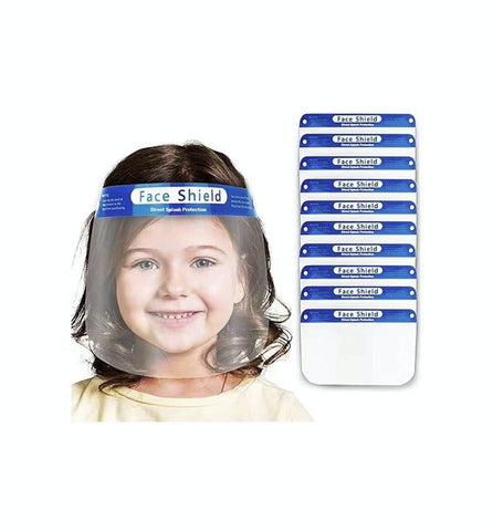 KIDS Child Face Shield w/ Anti-Fog Treatment and Foam Padding