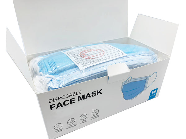 3-Ply Disposable Face Mask - 50/box