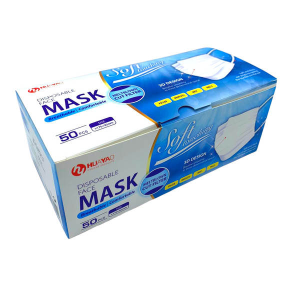 Level 3 Disposable 3-Ply  Protective Masks - WHITE