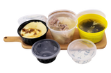 500ml Black Round Microwavable Soup Cup with Lid 450pcs per Carton