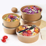 1000ml Kraft Paper Bowls with Lid 300pcs per Carton