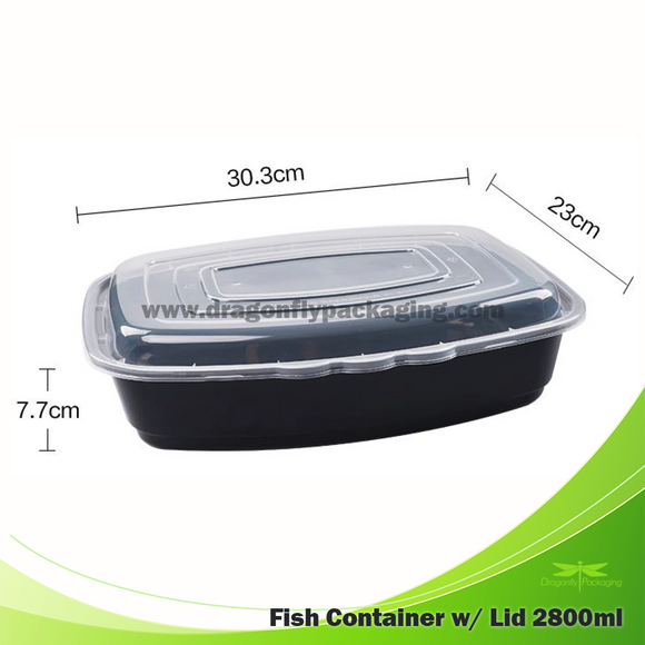 2800ml Container with Lid 50pcs per Carton