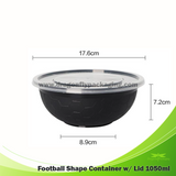 1050ml Black Ramen Bowl Microwavable Container with Lid 150pcs per Carton