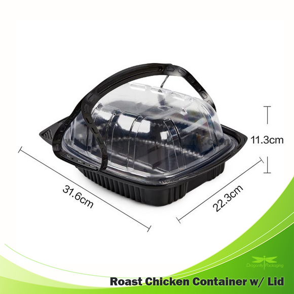 Roast Chicken Container with Lid 200pcs per Carton