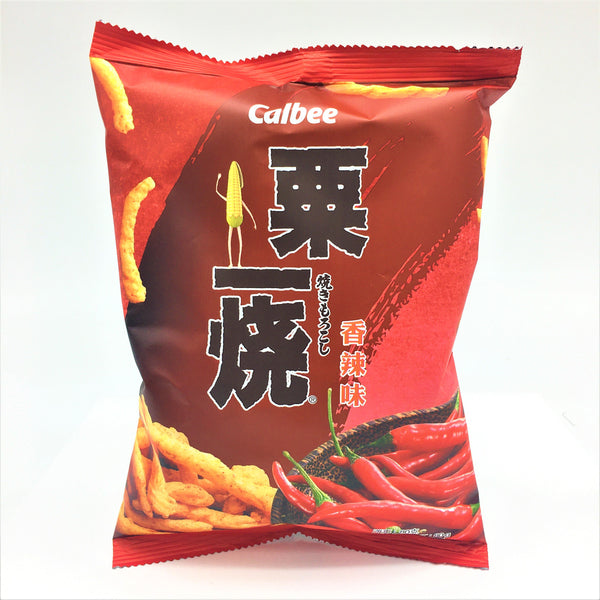 Calbee Grill A Corn Hot & Spicy Flavored Corn Chips 80g