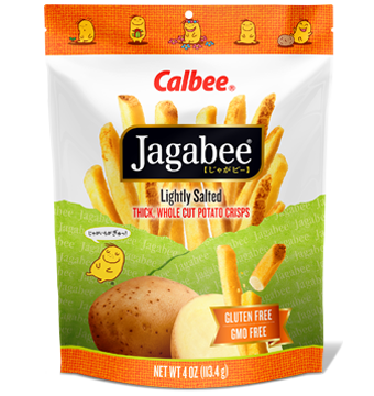 Calbee Jagabee Fry Cut Potato Crisps Lightly Salted 4.0oz