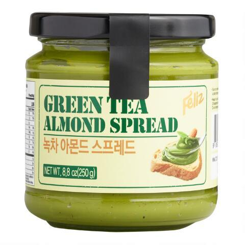 Feliz Green Tea Almond Spread 8.8oz