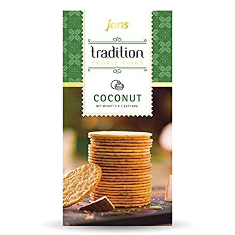 JANS BUTTER COCONUT CRACKER 6.7 OZ