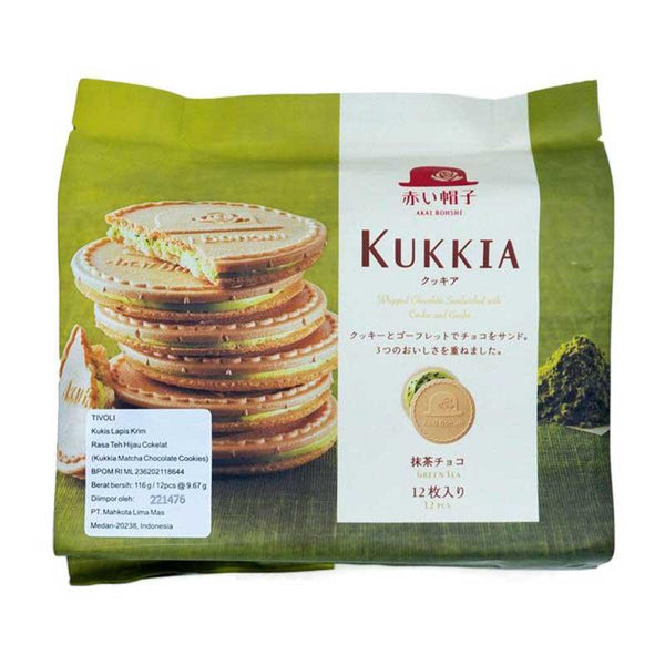KUKKIA MACHA CHOCOLATE TIVOLI COOKIE 3.3 OZ
