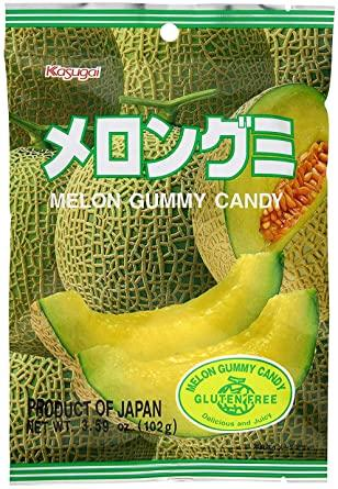 Kasugai Fruit Gummy Melon Flavor 3.59oz