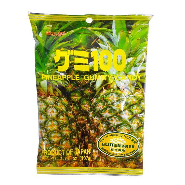 Kasugai Fruit Gummy Pineapple Flavor 3.77oz
