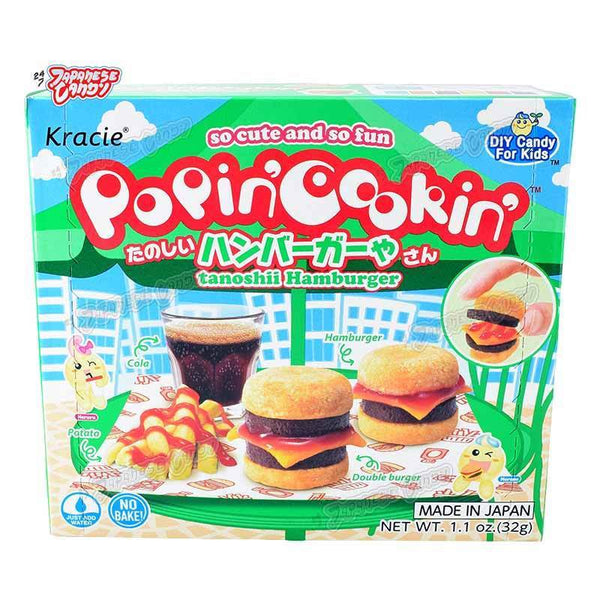 Kracie Popin' Cookin' Tanoshii Hamburger DIY Candy 1.1oz