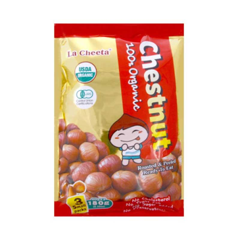 LA CHEETA ORGANIC ROASTED & PEELED CHESTNUTS 180 G