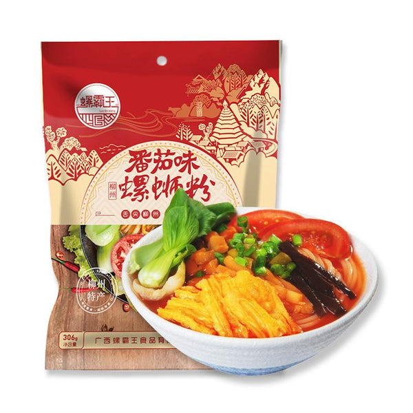 Luo Ba Wang Tomato Flavored Luo Si Rice Noodles 10.79oz