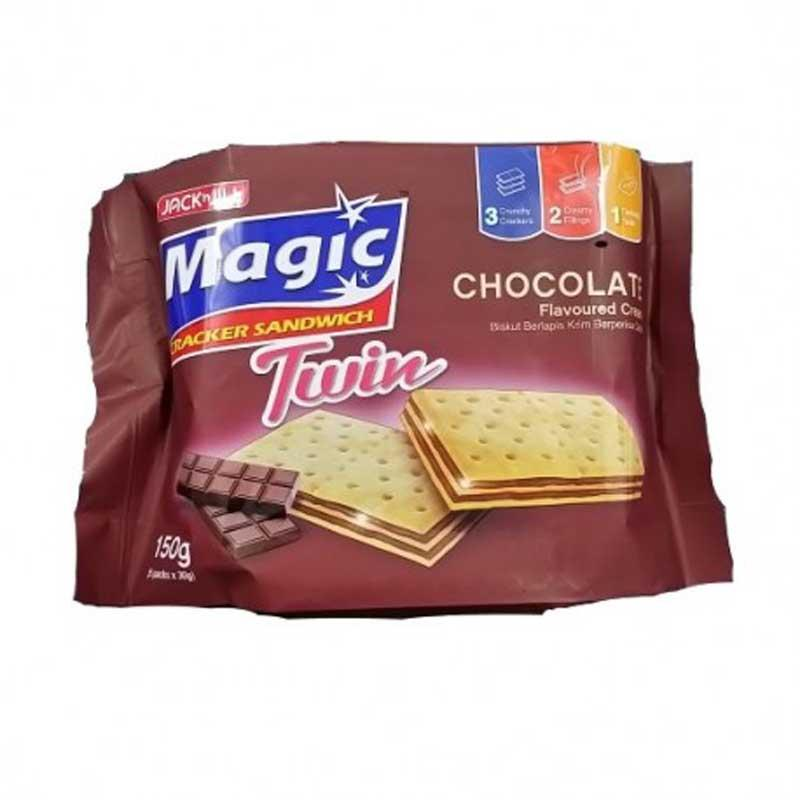 JACK & JILL MAGIC CHOCOLATE CREAM CRACKERS 10/30 G