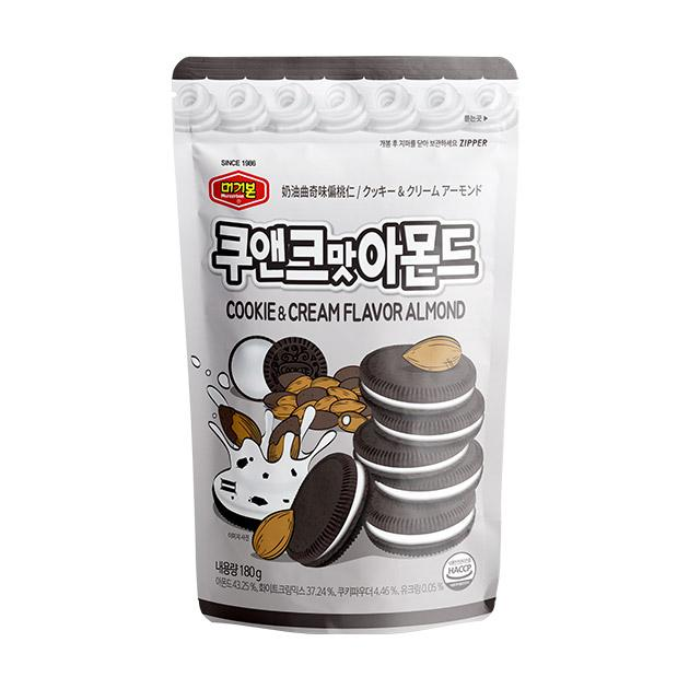 Murgerbon Roasted Almonds Cookie & Cream Flavor 180g
