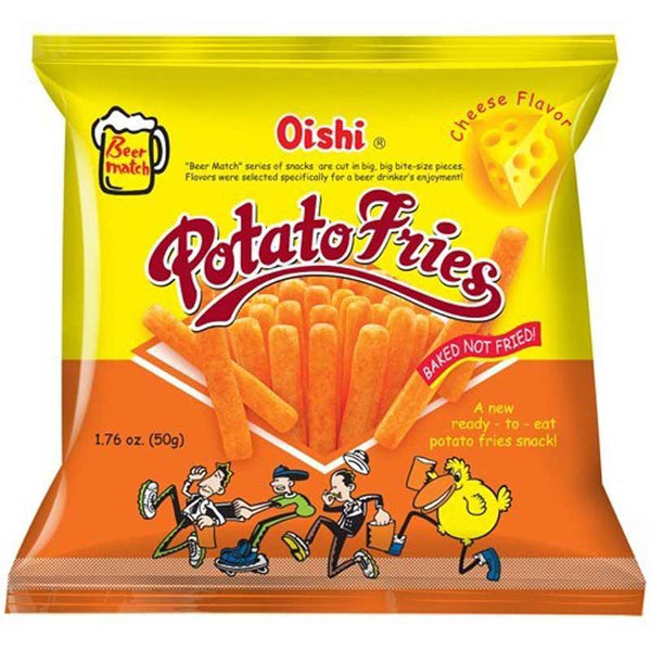 OISHI POTATO FRIES CHEESE 1.76 OZ