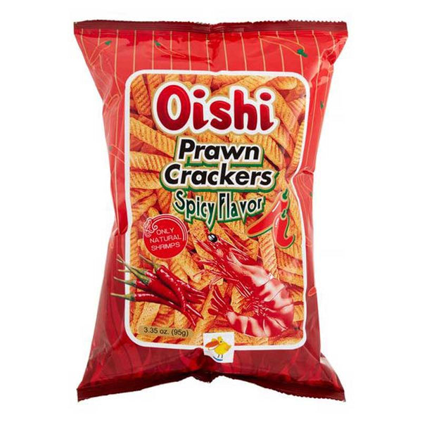 OISHI PRAWN CRACKERS SPICY (L) 3.35 OZ