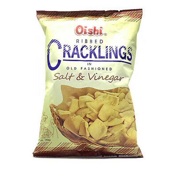 OISHI RIBBED CRACKLINGS SALT & VINEGAR 3.17 OZ