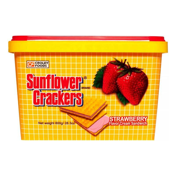 SUNFLOWER CRACKER STRAWBERRY 28.3 OZ