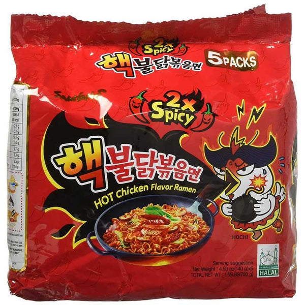 SAMYANG 2X SPICY HOT CHICKEN FLAVOR RAMEN 4.93 OZ