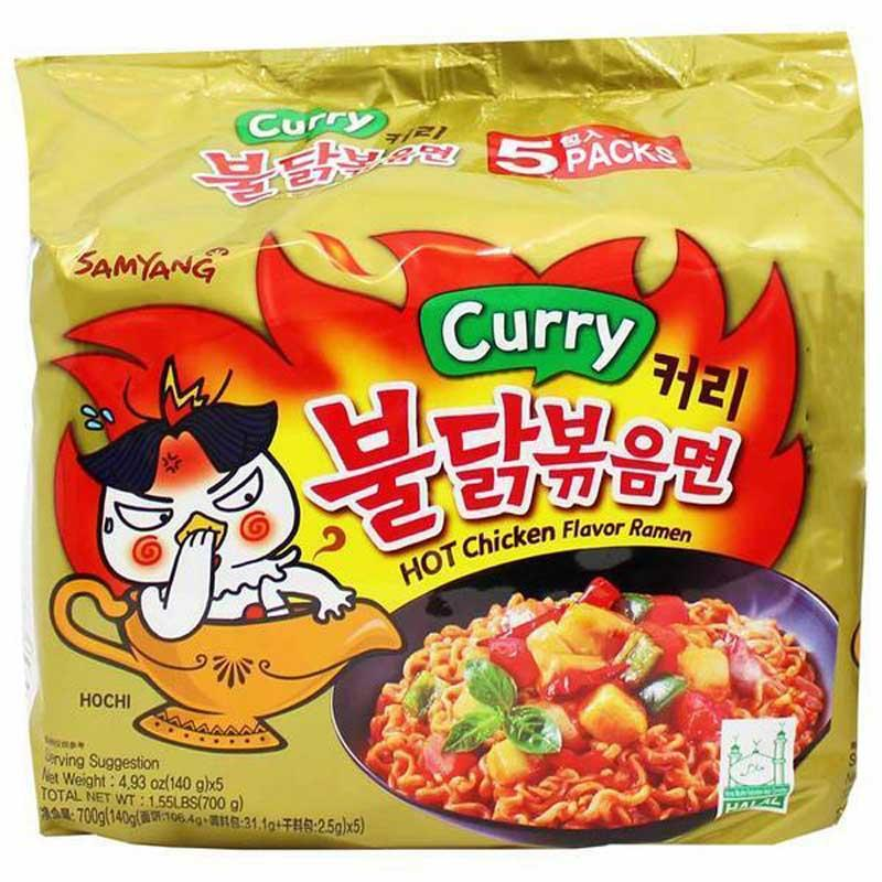 SAMYANG HOT CHICKEN RAMEN CURRY 5/4.93 OZ
