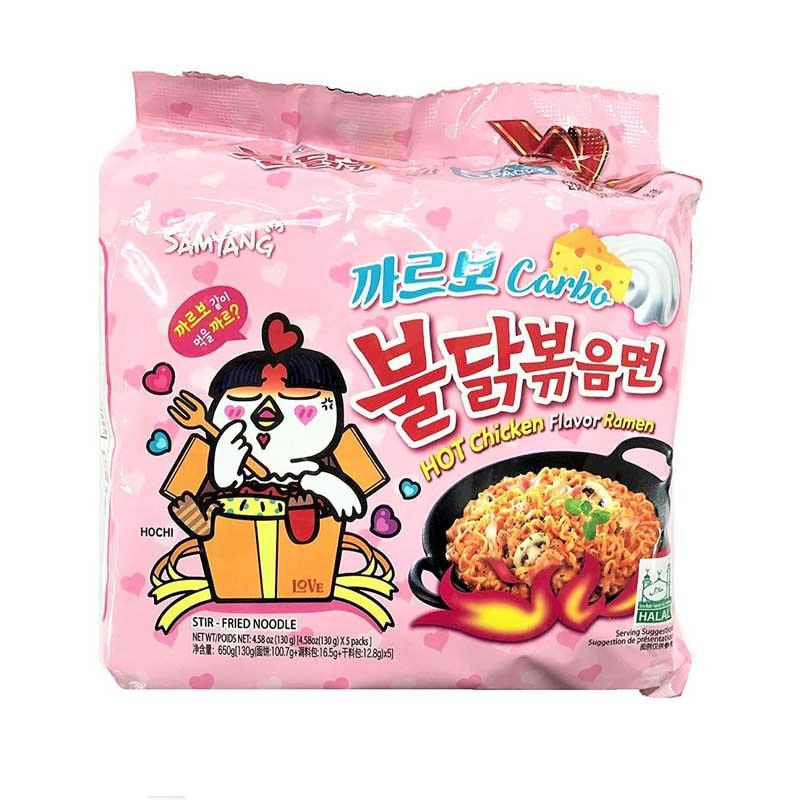 SAMYANG HOT CHICKEN RAMEN CARBO 5/4.58 OZ