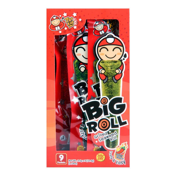 Tao Kae Noi Big Roll Grilled Seaweed Spicy Flavor 9pc