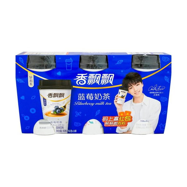 Xiangpiaopiao Blueberry Milk Tea 3-pack 2.68oz