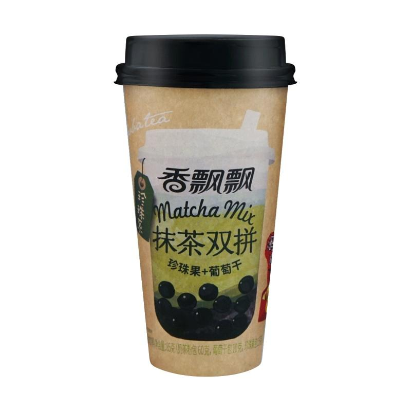 Xiangpiaopiao Matcha and Raisin Boba Milk Tea 85g