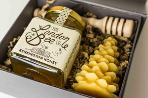 Christmas Tree Beeswax Candle and London Honey Gift Box