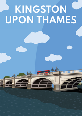 Kingston upon Thames Bridge Art Print