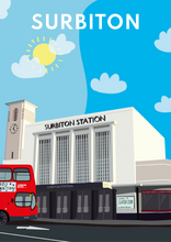 Load image into Gallery viewer, Surbiton Railway Station Art Print