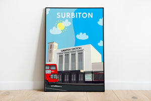 Surbiton Railway Station Art Print