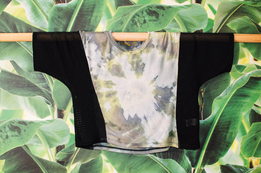 CALI crop tie dye//sweetgrass burst
