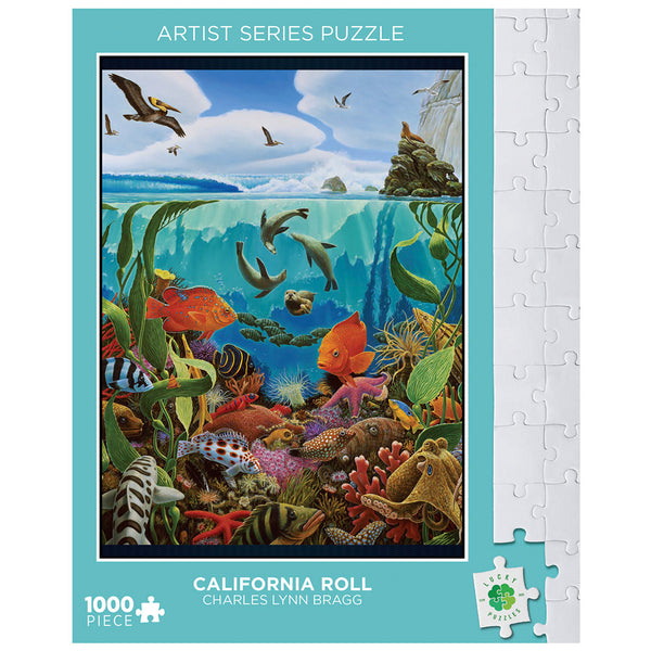 California Roll by Charles Lynn Bragg Lucky Puzzles 1000 Piece Jigsaw Puzzle