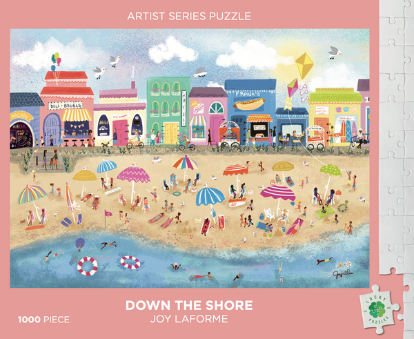 Down the Shore by artist Joy Laforme Lucky Puzzles 1000 Piece Jigsaw Puzzle photo 2