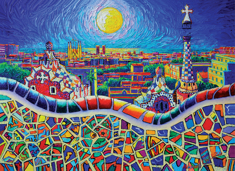 Magical Barcelona Night by Ana Maria Edulescu Lucky Puzzles 1000 Piece Jigsaw Puzzle