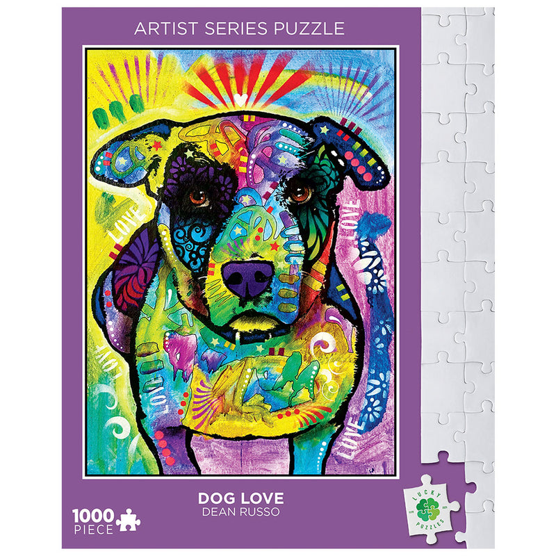 Dog Love by Dean Russo Lucky Puzzles 1000 Piece Jigsaw Puzzle