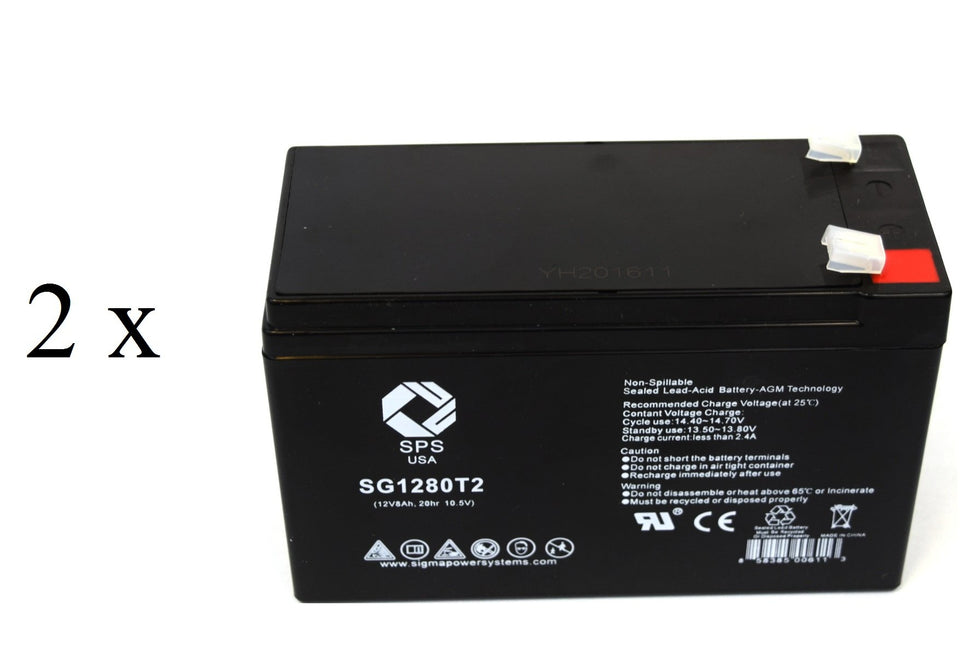2 Pack SPS Brand 12V 2.3Ah Camcorder Replacement Battery for NEC CV40U Video Camera