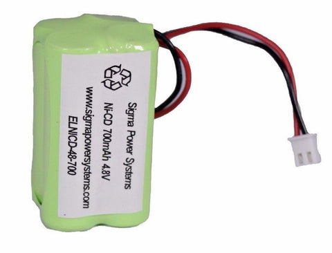 Cooper Industries 4-TD-800AA-HP Exit light battery 4.8V 700mAh NiCd battery pack