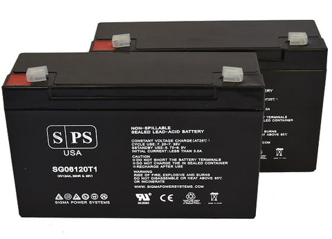 Power-Sonic PS-6100 6V 12Ah Battery - 2 pack
