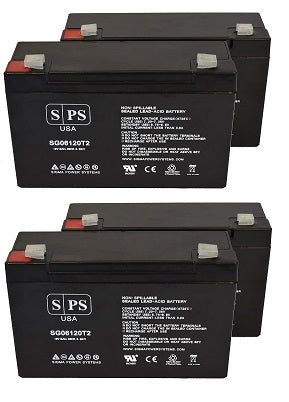 APC Back 650 BK650MC 6V12AH Version UPS Battery Set