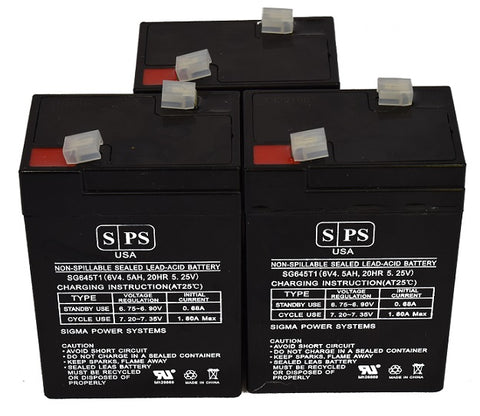 Carpenter Watchman CLA106 6V 4.5Ah  Battery -3 pack