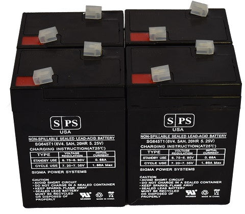 Carpenter Watchman CLA106 6V 4.5Ah Battery -4 pack