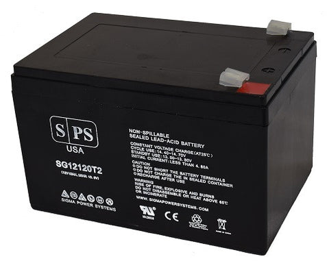 12V 12Ah rechargeable SLA (Sealed Lead Acid) battery with T2 terminals