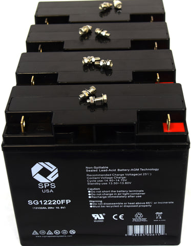 12V 22Ah rechargeable SLA battery with FP terminals