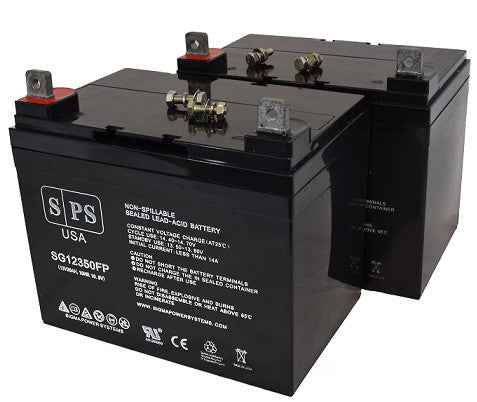 Panasonic LC-X12V33AP 12V 35Ah scooter battery set