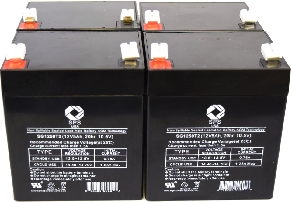 SPS Brand 12V 2.3Ah Camcorder Replacement Battery for G CG-9825 Video Camera E 2 Pack